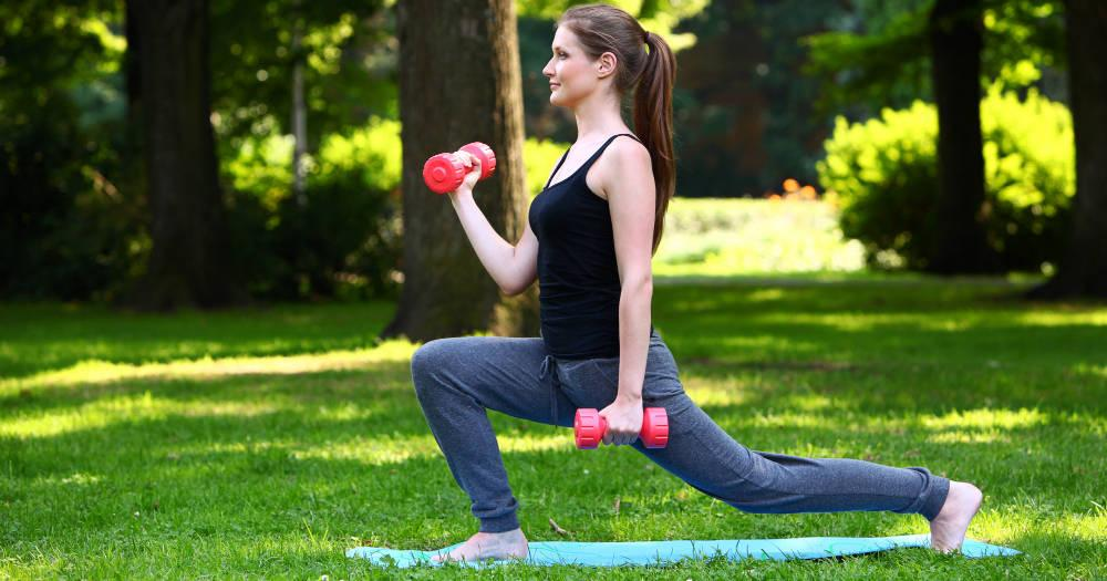 Bicep Curl Lunges