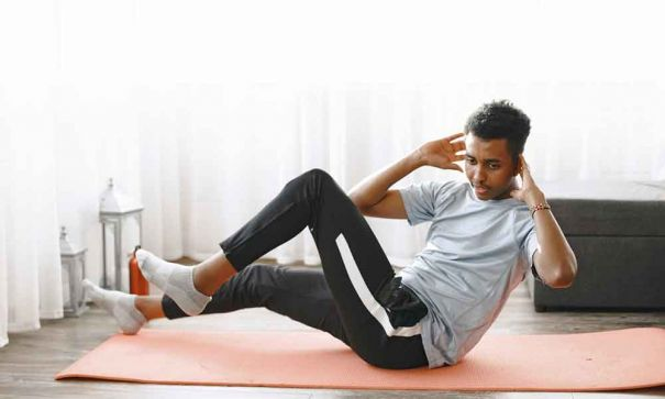 Doing abs workouts at home with no equipment - 2