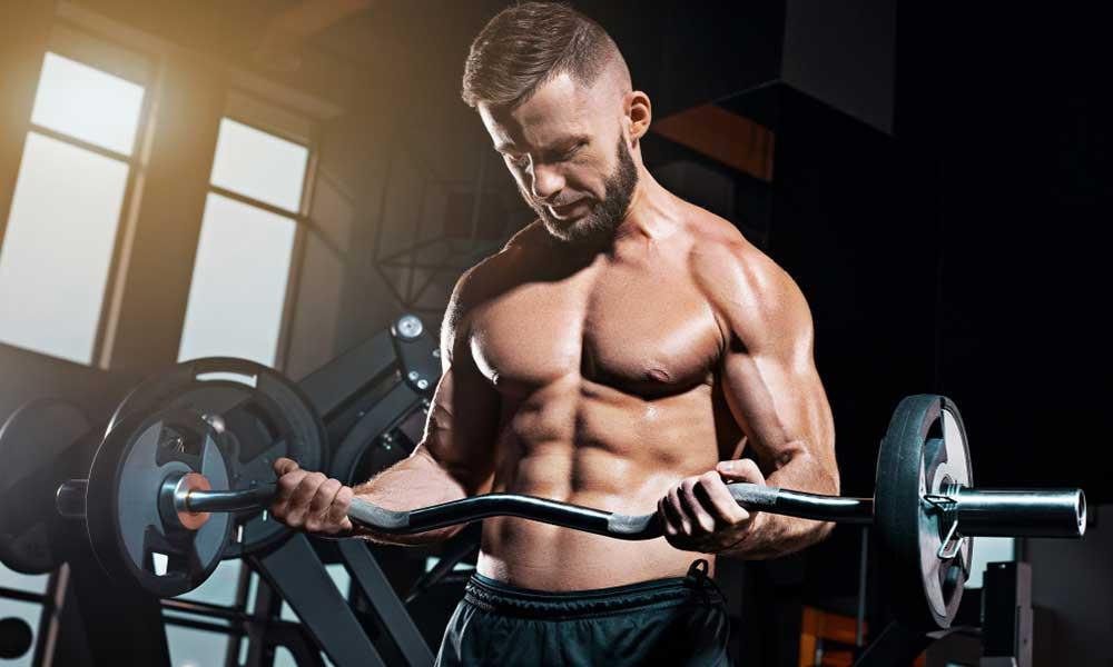 Barbell Curl 2 sets, 12 repetitions