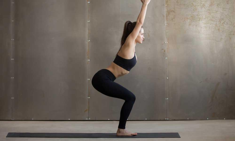 chair pose exercise for toning fatty butts