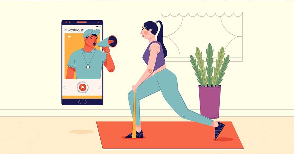 Consult an online fitness coach for on-demand, personalized, and virtual training sessions at home