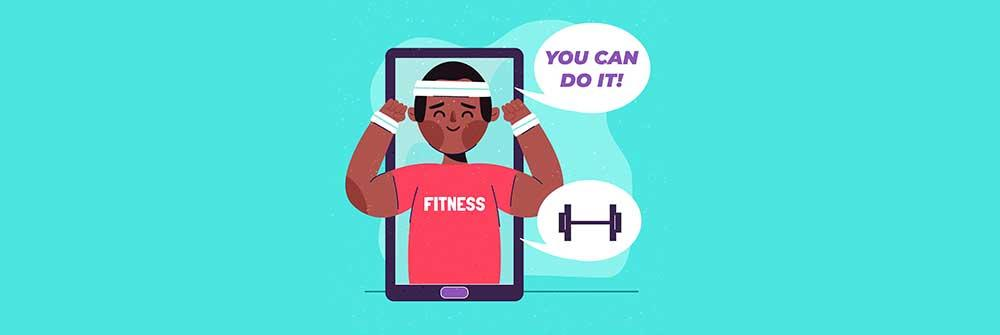 consulting a fitness coach online