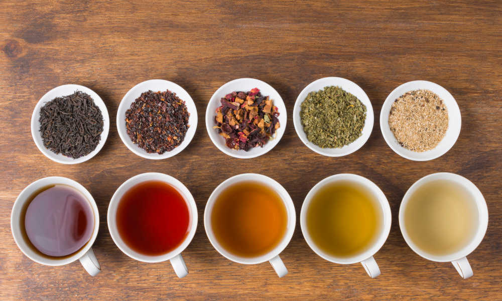 Different types of green teas