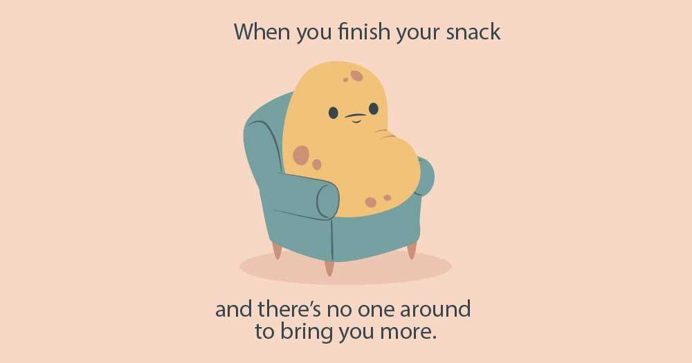 don't be a couch potato, work on your fitness