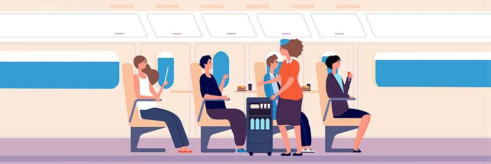 how to avoid weight gain in long flights?