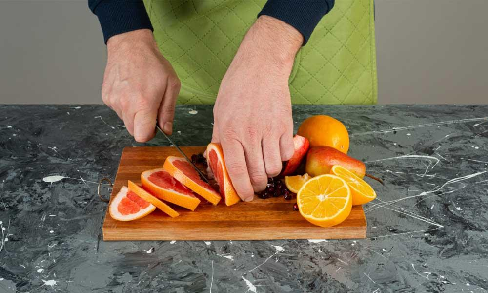 how to cut and eat grapefruit at home