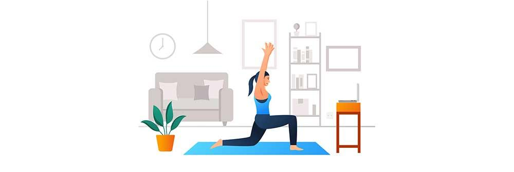 How to exercise and lose weight at home with virtual fitness training