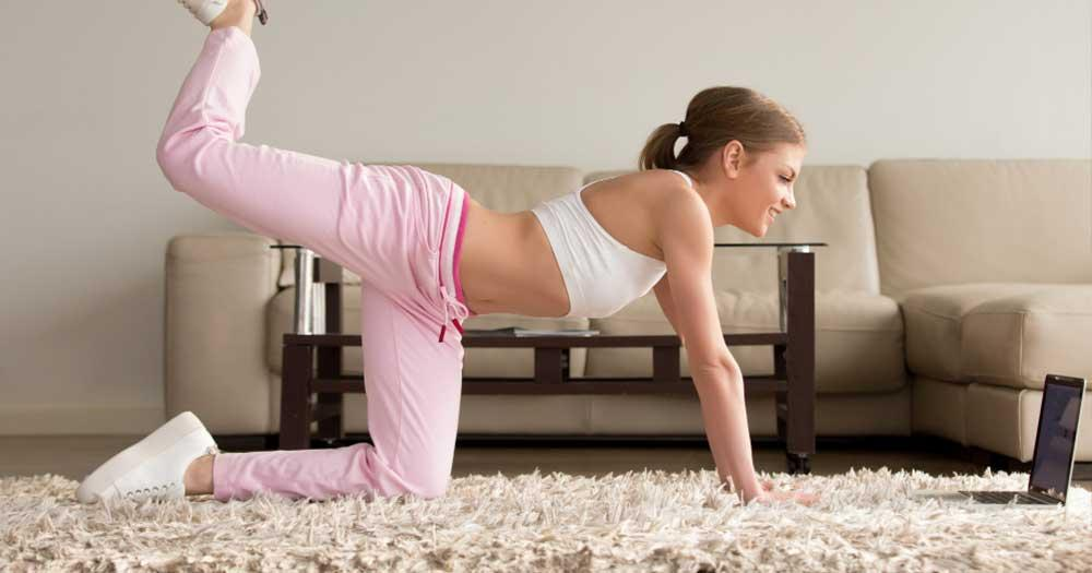 kickback exercise for melting flab on fat butts at home