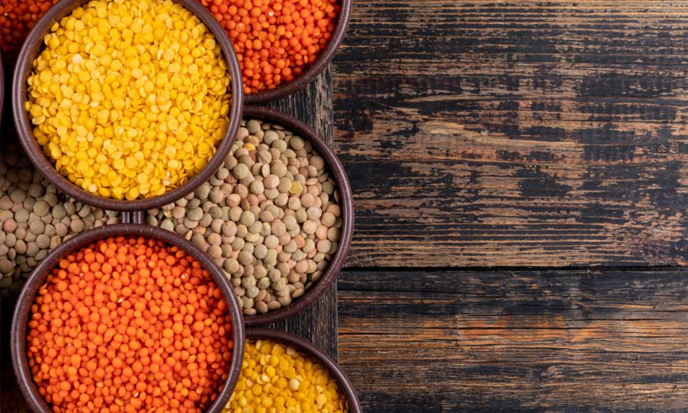 lentils have high nutrition value of calories, proteins, and fiber