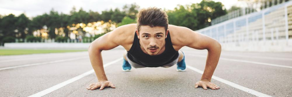 Pushups 3 sets, as many times as you can