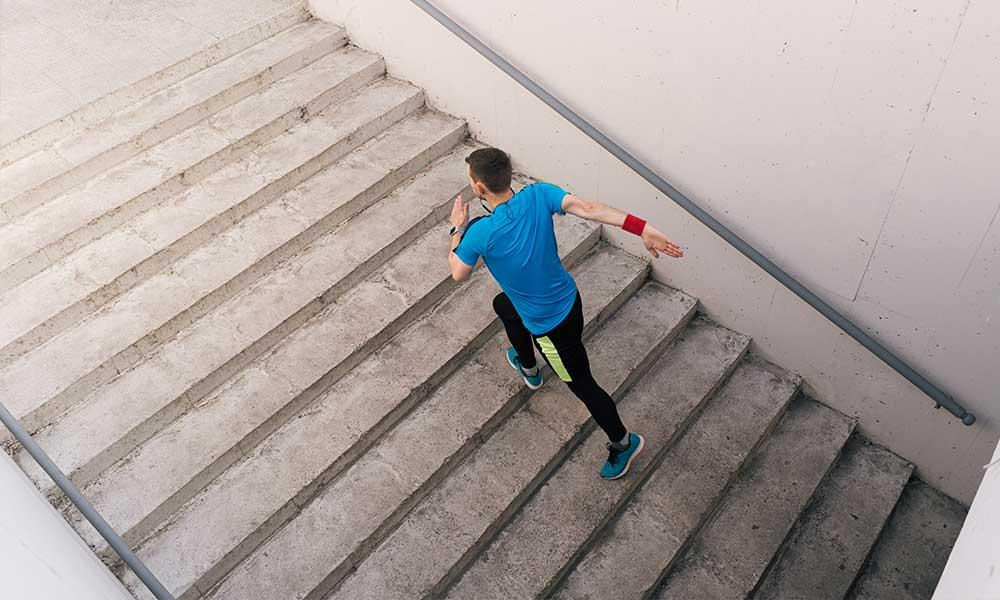 Stair workout variations
